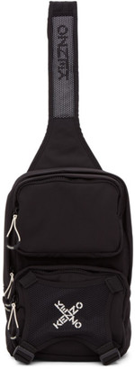 Kenzo Black Single Shoulder Backpack