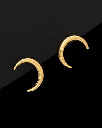 Italian Gold 14K Crescent Moon Stud Earrings