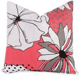 Crayola Flower Patch 18-Inch Square Throw Pillow in Pink/Grey