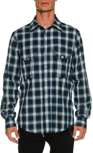 DSQUARED2 Military Long-Sleeve Check Shirt