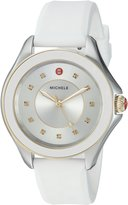Michele Women's 'Cape Topaz' Swiss Quartz Stainless Steel and Silicone Casual Watch, Color: (Model: MWW27A000024)