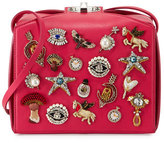 Alexander McQueen Embellished Box Clutch Bag, Pink