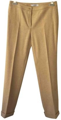 Marella Beige Wool Trousers for Women