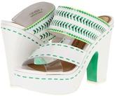 Nanette Lepore Mai Tai Heel (White/Clover/Citrine) - Footwear