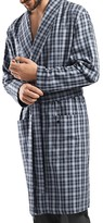 Hanro Paolo Plaid Cotton Robe