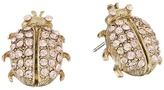 Oscar de la Renta Crystal Bug Button P Earrings Earring