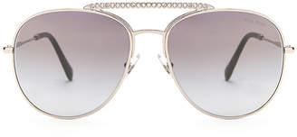 Miu Miu Aviator Sunglasses in Silver | FWRD