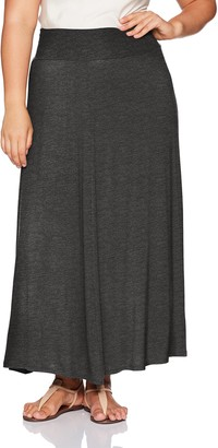 Amy Byer Women's Plus Size Timeless Soft Knit Maxi Skirt