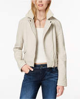 BB Dakota Pebbled Faux-Leather Biker Jacket
