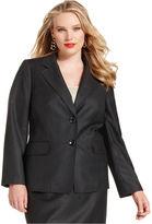 Kasper Plus Size Jacket, Melange Blazer