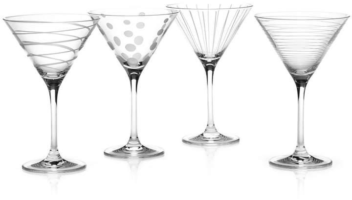 "Mikasa Clear Cheers"" Martini Glasses, Set Of 4"