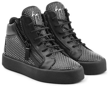 Giuseppe Zanotti Stud Embellished Leather Sneakers