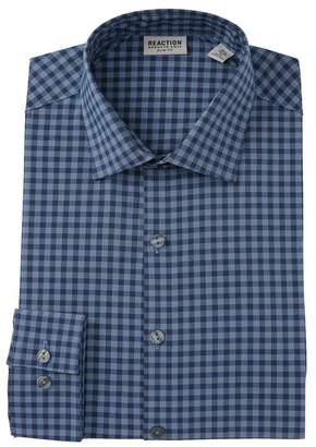 Kenneth Cole Reaction Flex Slim Fit Checkered Dress Shirt