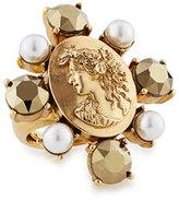 Oscar de la Renta Pearly Bold Cameo Ring