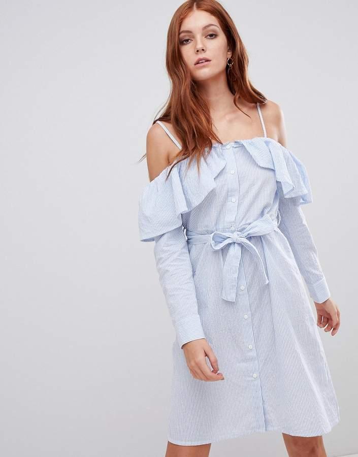 0f7861da9cdc Blue Off The Shoulder Dress - ShopStyle UK