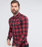 Asos Tall Skinny Western Buffalo Check Shirt