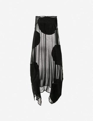 Symetria Elliptical polka-dot semi-sheer cotton and silk-blend midi dress