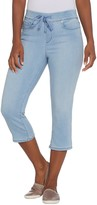Martha Stewart Petite Knit Denim Pull-On Capri Jeans