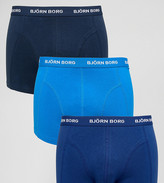 Bjorn Borg 3 Pack Trunks Blue Multi