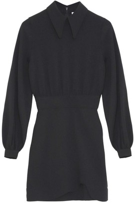 Ganni Heavy Crepe A-Line Shirtdress