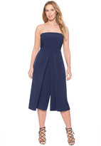 ELOQUII Plus Size Pleated Strapless Jumpsuit