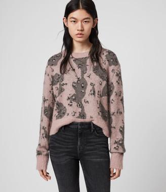 AllSaints Asko Camo Sweater