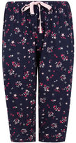 Yours Clothing YoursClothing Plus Size Womens All Over Star Print Cropped Pyjama Bottoms