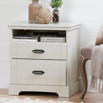 South Shore Lilak 2 Drawer Nightstand Color: Winter Oak