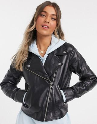 Levi's Jessie Moto Leather Jacket in Black