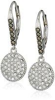 "Judith Jack Classics"" Sterling Silver/Swarovski Crystal Drop Earrings"