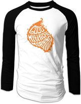 Parisama-oran-Adults Men's YouTube Good Mythical Morning Logo Long Sleeve Baseball Raglan Shirts XL