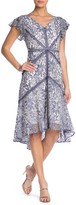 Taylor Printed Lace Flutter Sleeve