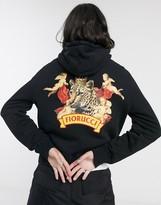 Fiorucci cheetah hoodie in black