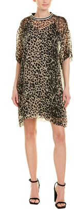 Anna Sui Leopard Silk Shift Dress