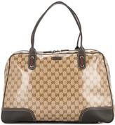 Gucci Pre Owned GG Shelly Line travel hand bag