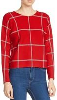 Maje Mademoise Checker Print Sweater
