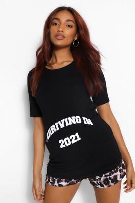 boohoo Maternity Arriving 2021 Leoaprd Print PJ Set