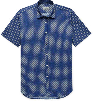 Canali Slim-Fit Linen And Cotton-Blend Shirt