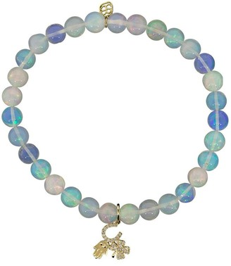 Sydney Evan 14kt yellow gold Protection Trio diamond charm bracelet