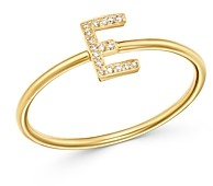Zoe Lev 14K Yellow Gold Initial Diamond Ring