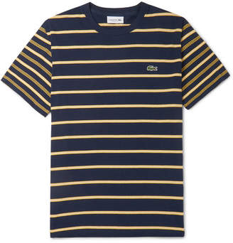 Lacoste Striped Pima Cotton-Jersey T-Shirt