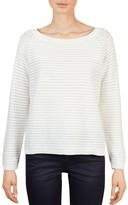 Gerard Darel Aidan Sheer Stripe Pullover Sweater