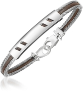 Forzieri Di Fulco - Stainless Steel Bracelet w/ Plaque