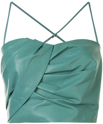 Mason by Michelle Mason Sweetheart-Neck Cropped Top