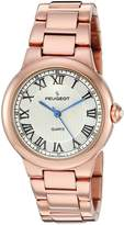 Peugeot Women's 'Roman Numeral' Quartz Metal and Alloy Dress Watch, Color:-Toned (Model: 7086RG)