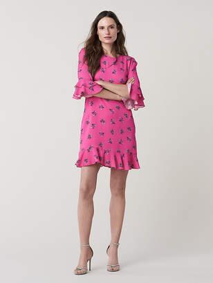 Diane von Furstenberg Ruffle Cuff Sleeve Dress
