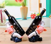 mkki Personalized fashion lucky pig lovely wine rack decorations ornaments creative wine rack