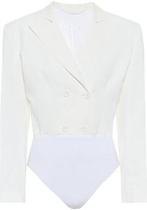 Unravel Stretch-cotton hybrid bodysuit