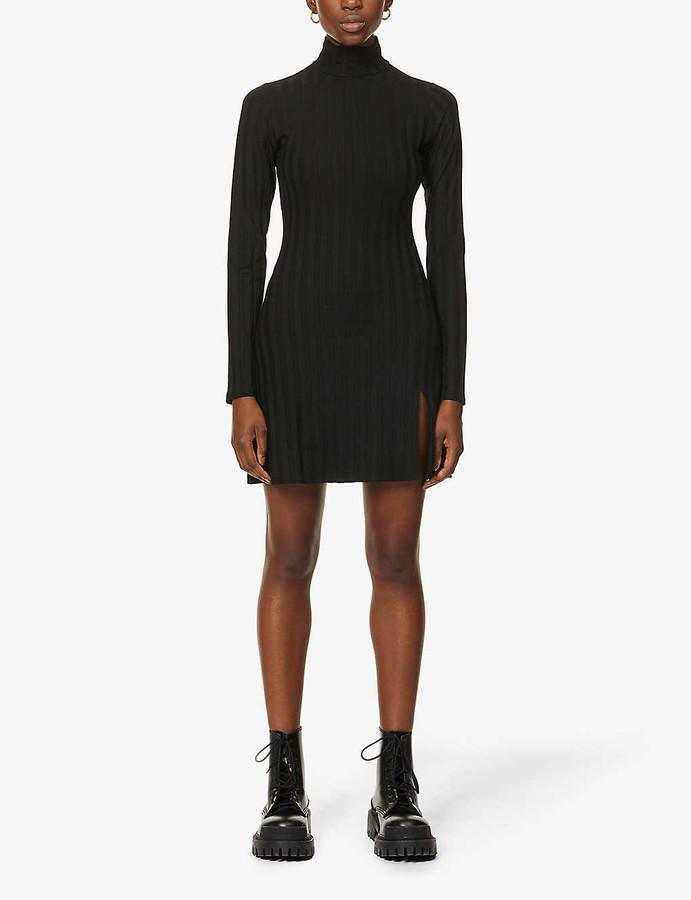 Reformation Libra ribbed stretch-jersey mini dress