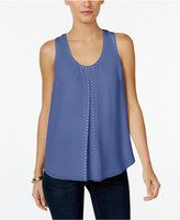 MICHAEL Michael Kors Embellished Pleated Shell